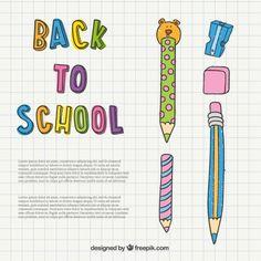 Free vector Back to school illustration Vector Free Download, Free Vector Art, Vector Graphics, Business Newsletter Templates, School Design, Art Images, Back To School, Childhood, Clip Art