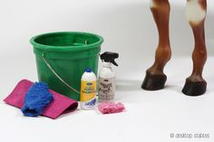 Desktop Stables - Model horse bath supplies (product labels pdf included)