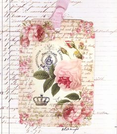 French Roses gift tags