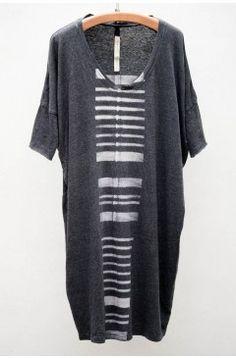 Raquel Allegra Stripes Print Raglan Dress | $220