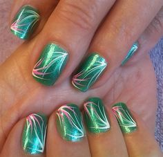 curvy burst by aliciarock - Nail Art Gallery nailartgallery.nailsmag.com by Nails Magazine www.nailsmag.com #nailart