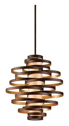 Vertigo Large Pendant Light - modern - pendant lighting - Lamps Plus Deco Luminaire, Luminaire Design, Lamp Design, Contemporary Pendant Lights, Modern Pendant Light, Contemporary Decor, Contemporary Stairs, Contemporary Building, Contemporary Cottage