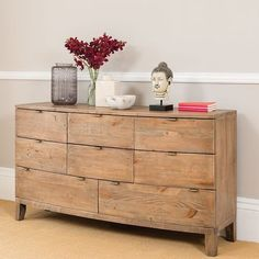 Large Rustic Wooden Chest of Drawers for the Bedroom. Beautifully curved front, this unique bedroom furniture is made from reclaimed wood. Chest Of Drawers Decor, Large Chest Of Drawers, Reclaimed Wood Furniture, Rustic Furniture, Pine Furniture, Furniture Ideas, Bella Furniture, Chester Drawers, Wood Chest