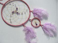 Amethyst im hochwertigen rosa Traumfänger von Traumnetz-com :  Traumfänger, Schmuck, Bilder auf DaWanda.com