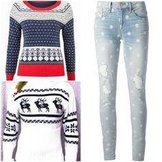 Dva úžasné svetry a k tomu nádherné zimní džíny :)