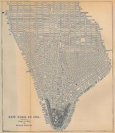 This colorful reproduction of a vintage map is a great gift for anyone who lives in, or has lived in New York City. This map shows the streets of lower Manhattan as they were in 1782 This is a great gift for anyone into the history of New York City and fa New York City Map, City Maps, Plan New York, Manhattan Map, Lower Manhattan, Manhattan Restaurants, Manhattan Skyline, Carte New York, Urban Design