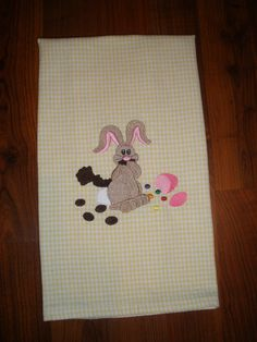 Easter Embroidered Towel  Easter Bunny  and by LynnsCozyQuilts, $8.99