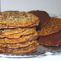 This recipe for Polish florentines or florentynki are made with candied fruit, nuts and a chocolate bottom.