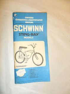 VINTAGE 1979 Schwinn Sting Ray Stingray Tornado Owners Manual Bike Bicycle RARE! #Schwinn