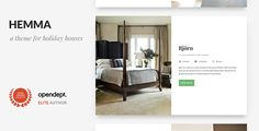 Hemma - A WordPress theme for Holiday Houses by opendept Hemma is a clean, modern and professional WordPress theme for Holiday Houses, B&B, Resorts and Hotels.Easy to setup. For those who