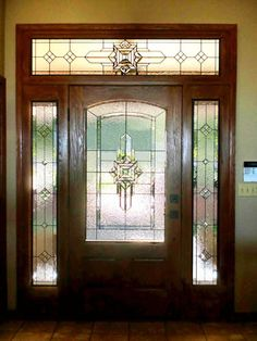 Contemporary Stained Glass Entryway