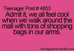 teenager post: shopping