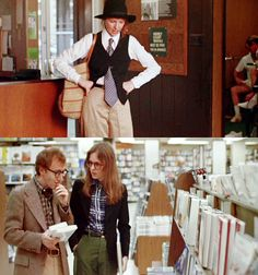 """""""She came in,and the costume lady [Nancy McArdle] on 'Annie Hall' said,'Tell her not wear that. She can't wear that.It's so crazy.' And I said """"Leave her. She's a genius. Let's just leave her alone and let her wear what she wants."""" —Woody Allen remembers his 1977 film with Diane Keaton"""