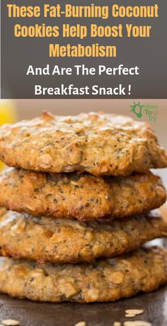 Fat-Burning Coconut Cookies Help Boost Your Metabolism And Are The Perfect Breakfast Snack – Ideas To Try Keto Recipes, Cooking Recipes, Healthy Recipes, Cooking Food, Breakfast Snacks, Breakfast Recipes, Healthy Breakfast Cookies, Breakfast Scones, Savory Breakfast