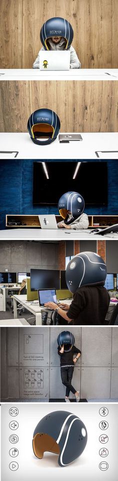 If you're fine with the idea of looking somewhat like a bobble-head, the Helmfon can do pretty miraculous things for you! Made out of fiberglass and polyethelene foam, the helmet when worn cuts out all outside disturbance, giving you your quiet zen, even in a buzzing workplace.