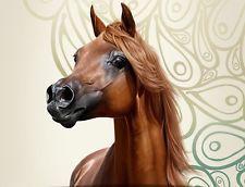 CHESTNUT ARABIAN HORSE STALLION HORSES Counted Cross Stitch Pattern