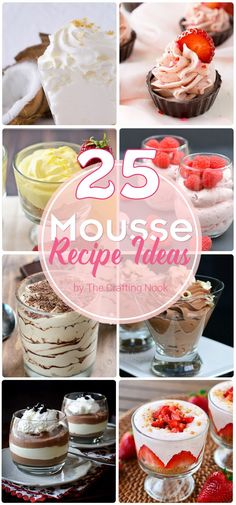 I dare you to not drool all over your screen with these Amazingly looking 25 Mousse Recipe Ideas. Decadent and Mouthwatering