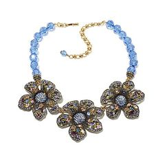 "Shop Heidi Daus ""Anemone"" Beaded Crystal 15-3/4"" Necklace at HSN mobile"