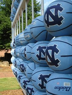 https://flic.kr/p/foq9Z | UNC Basketballs | Near Hanes Art Center, UNC-Chapel Hill, North Carolina, USA