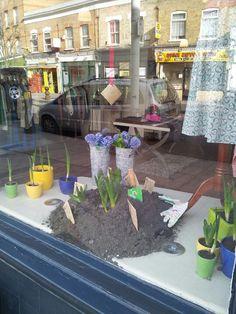 Fabulous new spring window display at Bias on Bellendon Road in Peckham Rye