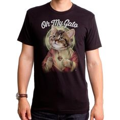 be9070628 Oh My Gato Men's T-shirt (GT4737-101BLK) Kitty, cats, oh my god, religious,  cat men's tees, religious tees, Jesus, cats, cat lover, pray