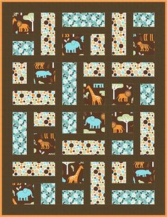 Good Menagerie Quilt Pattern 4 You are in the right place about patchwork quilting crochet Here we offer you the most beautiful pictures about the patchwork quilting easy you are looking for. Scrappy Quilts, Easy Quilts, Patchwork Quilting, Amish Quilts, Hand Quilting, Panel Quilts, Quilt Blocks, Quilt Kits, Quilt Baby