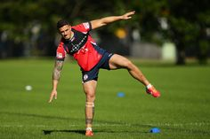 Sonny Bill Williams stretches during a Sydney Roosters NRL training session at Moore Park on June 3, 2013 in Sydney, Australia.