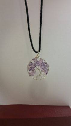Hey, I found this really awesome Etsy listing at https://www.etsy.com/listing/207247008/purple-tree-of-life-february-birthstone