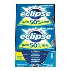 wholesale Other Whlsl Health and Beauty: Eclipse Sugar Free Gum Peppermint 8 Packs (18 Ct Per Pack) (Pack Of 3) -> BUY IT NOW ONLY: $31.18 on eBay!