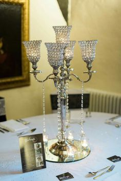 Crystal Shaded Candelabras