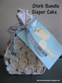 Stork Bundle Diaper Cake