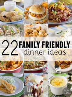 22 Family Friendly Dinner Ideas - Taste and Tell Dinner Recipes supper ideas Fun Dinners For Kids, Healthy Family Dinners, Family Meals, Kids Fun, Kid Meals, Frugal Meals, Family Friendly Recipes, Kids Dinner Ideas Healthy, Healthy Kid Friendly Dinners