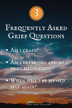 Learn expert answers to 3 of the most common questions about grief.