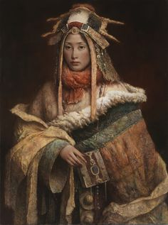 Dp&K Art Inspiration Tang Wei Min_Painter Tang Wei Min was born in 1971 in Yong Zhou, Hunan Province of China. In he graduated from the Art Department of Hunan Standard College, where he … Chinese Painting, Chinese Art, Oeuvre D'art, Figurative Art, Asian Art, Painting & Drawing, Madonna, Oriental, Art Gallery
