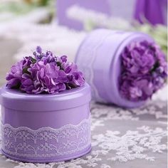 10 Pieces Creative Round Shape Tinplate Candy Box From Touchy Style Outfit Accessories ( Purple / ) Craft Stick Crafts, Crafts For Kids, Diy Crafts, Origami Candy Box, Blue Wedding Favors, Lilac Wedding, Cute Easter Bunny, Candy Boxes, Gift Boxes