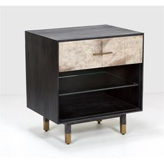 Interlude Home Sierra Bedside Chest - Dusk 159017
