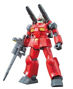 """Bandai Hobby HGUC Guncannon Revive Action Figure (1/144 Scale)  The revive version features the """"Kusabi gate"""" a type of injection molding technique that allows parts to be taken off the runner without tools!  In addition new joint mechanisms allow for impressive display to recreate poses and movement true to its portrayal in Mobile Suit Gundam  Includes beam rifle and extra open palm parts; Runner x7, Instruction Manual x1  Product bears official Bluefin Distribution logo ensuring purc..."""