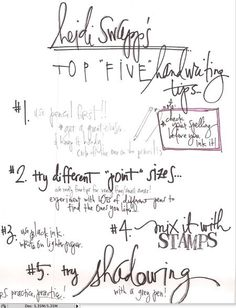 Heidi Swapp's top 5 handwriting tips