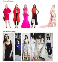 Preview Spring Summer 2015 apparel, shoes and make up by Oscar de la Renta, Sonia by Sonia Rykiel ----- pre-collezione moda trend Primavera Estate 2015 abbigliamento scarpe accessori e trucco