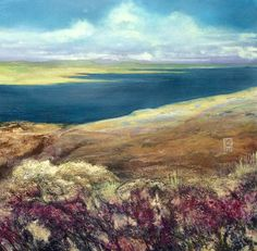 Giuliana Criscuolo - Bay of Firth, Orkney - -  Fluid acrylics and gesso on paper - 40 cm x 60 cm
