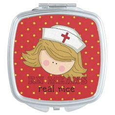 Rn means real nice Nurse compact Makeup Mirrors