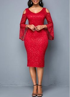 Dresses For Women Tight Dresses, Casual Dresses, Dresses For Sale, Dresses Online, Lace Dress Styles, Club Party Dresses, Lace Dress With Sleeves, Spandex Dress, Ankara Dress