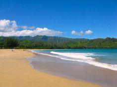 Hanalei beaches   Hanalei bay beach, Kauai