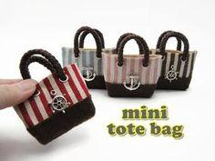 O futuro só depende de você! : DIY Miniature Doll Mini Tote Bag - No Sew!