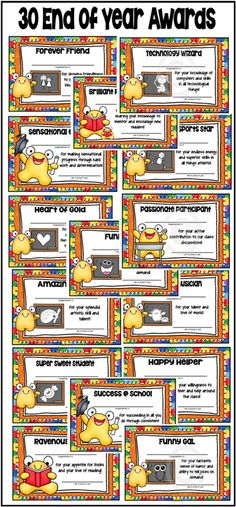 Type student name straight on these cute certificates. Black and White awards included ($)