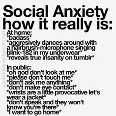 Uuh I think I might have social anxiety? I feel stupid saying this but I've never actually read the symptoms of social anxiety. and now that I did I realize these fit me rly well Inspirer Les Gens, All Meme, Dissociation, My Demons, Describe Me, How I Feel, True Quotes, Depressing Quotes, Qoutes