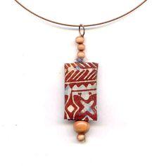 Julia/Fibernique - Fibre Necklace, batik