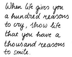 1000 reasons to smile!! YES!!
