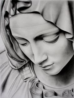 """This is a drawing of a portion of the Michelangelo statue """"Pietá"""". The full statue depicts the body of Jesus on the lap of his mother Mary after the Crucifixion. I was inspired by Imaginee' s (Lind..."""