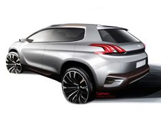 Peugeot Urban Crossover Concept - Design Sketch: